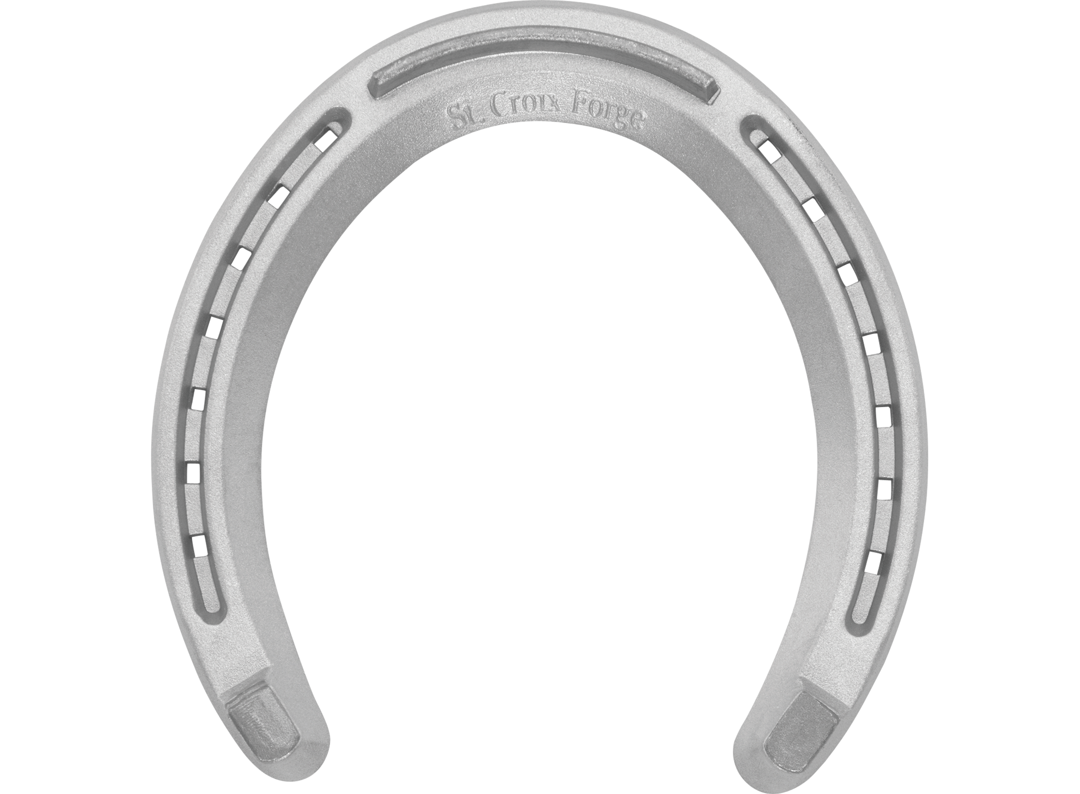 St. Croix Quarter Horse Block Heel horseshoes, front and hind, bottom