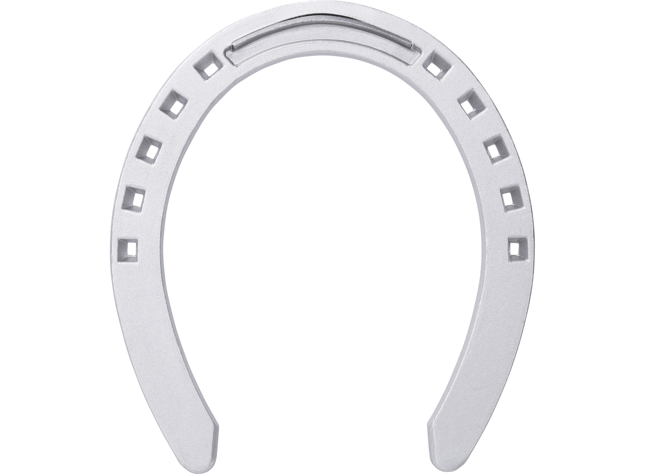 St. Croix Plain Aluminium horseshoe, bottom side view