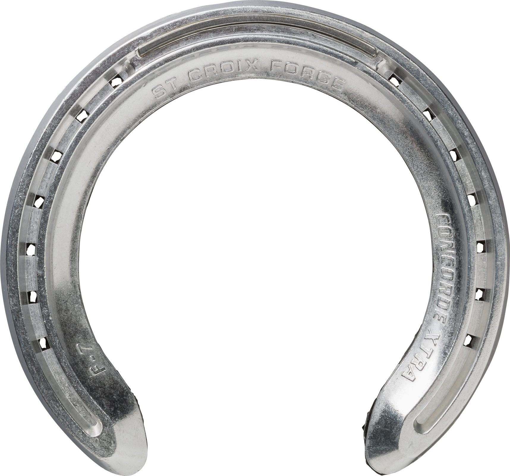 St. Croix Concorde Extra Air horseshoes, bottom side