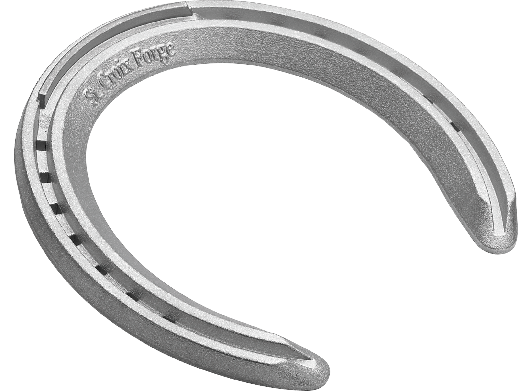 St. Croix XLT horseshoes, front, 3D bottom view